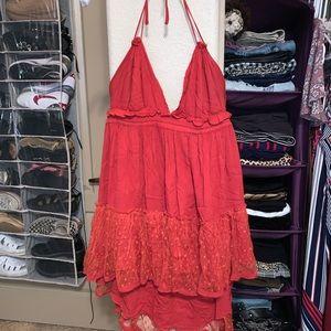 Red babydoll dress